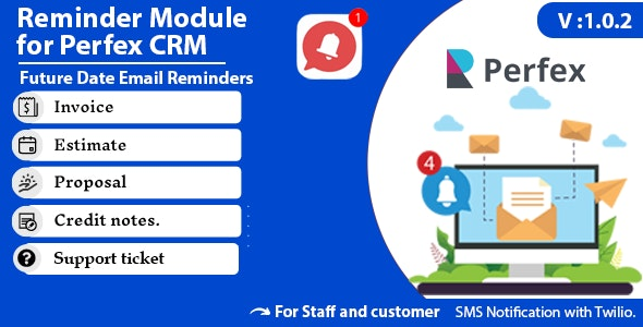 Reminder module for Perfex CRM - CodeCanyon Item for Sale