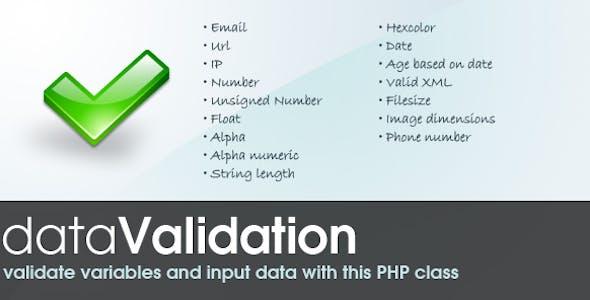 Data Validation class