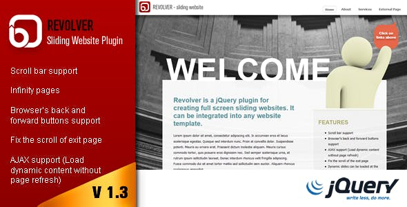 Revolver - Sliding Website Plugin