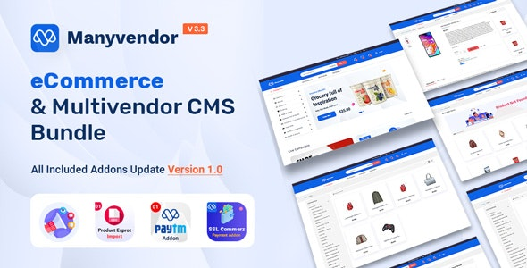 Manyvendor - eCommerce & Multivendor CMS Bundle - CodeCanyon Item for Sale