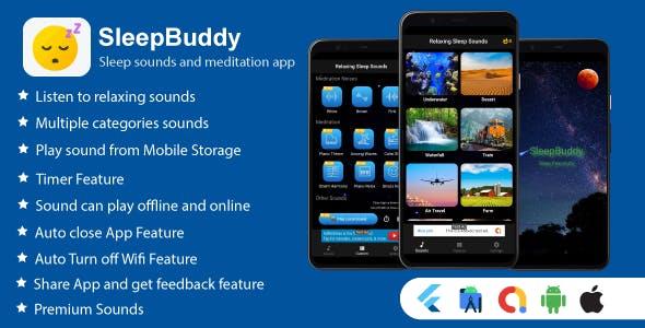 SleepBuddy: Sleep Sounds and Meditation Flutter App