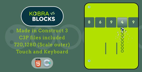Kobra vs Blocks - HTML5 Casual game