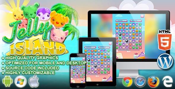 Jelly Island - HTML5 Matching Game