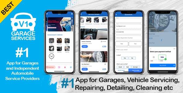 Car Bike Van Automobile Cleaning, Servicing, Repair App for Garages