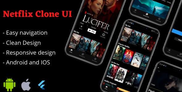 Netflix Clone App Flutter UI