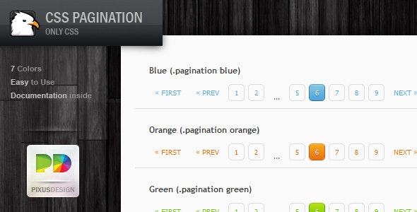 CSS Pagination Pack - CodeCanyon Item for Sale