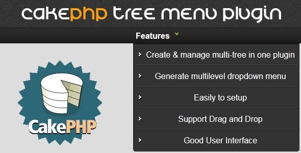 CakePHP Tree manage & build multilevel menu plugin - CodeCanyon Item for Sale