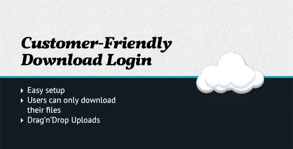 Customer-friendly Download Login