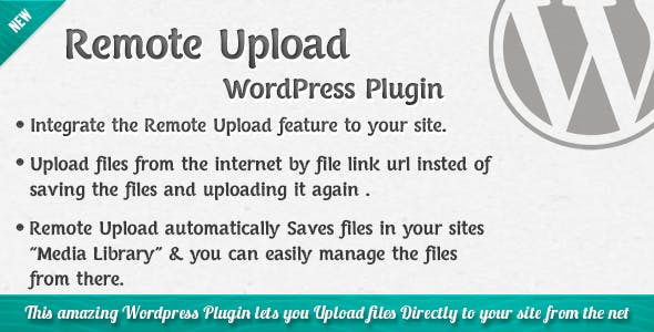 Remote Upload - WordPress Plugin