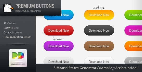 Premium Buttons - CodeCanyon Item for Sale