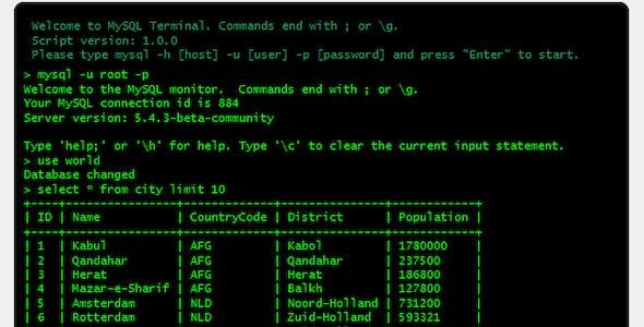 Super MySQL Terminal