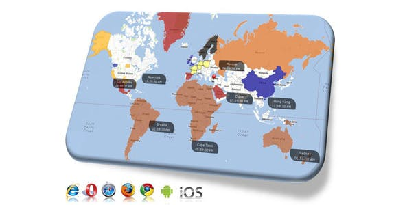 Google Maps with Clickable Countries