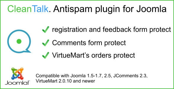 Cleantalk. Spam protect plugin for Joomla - CodeCanyon Item for Sale