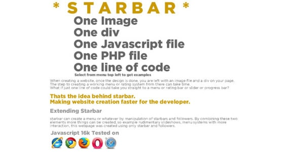 starbar - CodeCanyon Item for Sale