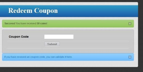 Coupon Codes Upgrade Addon for Powerful Echange