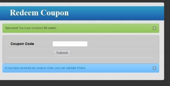 Coupon Codes Upgrade Addon for Powerful Echange - CodeCanyon Item for Sale