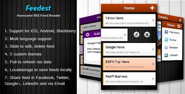 Feedest - Rich RSS Feed Reader by mobiarchitect | CodeCanyon