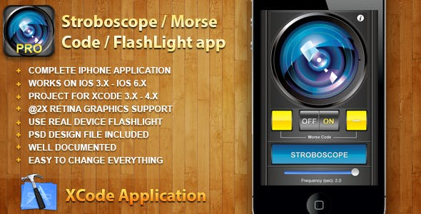 Stroboscope / Morse Code / FlashLight application