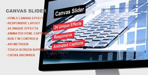 Canvas Slider - jQuery Canvas Effect Slider