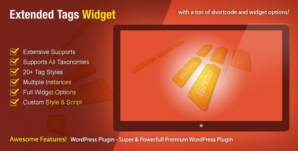 Extended Tags Widget - WordPress Premium Plugin - CodeCanyon Item for Sale
