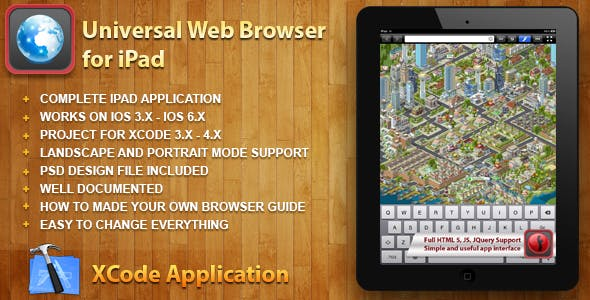 Universal Web Browser for iPad for iOS 3.x - 6.x