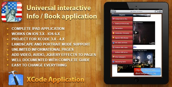 Universal Interactive Info / Book application