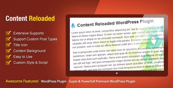 Content Reloaded - CodeCanyon Item for Sale