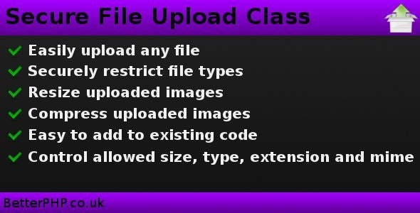 Secure File Upload Class - CodeCanyon Item for Sale