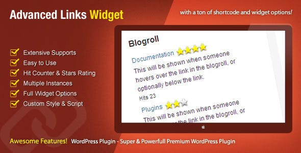 Advanced Links Widget - WordPress Premium Plugin