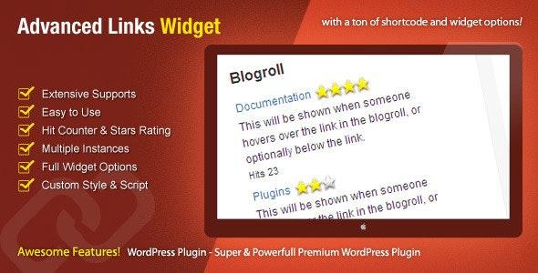 Advanced Links Widget - WordPress Premium Plugin - CodeCanyon Item for Sale