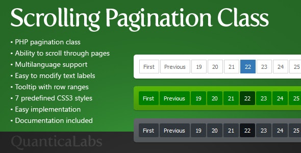 Scrolling Pagination Class - CodeCanyon Item for Sale