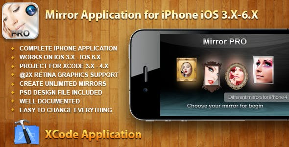 Mirror Application for iPhone iOS 3.X-6.X