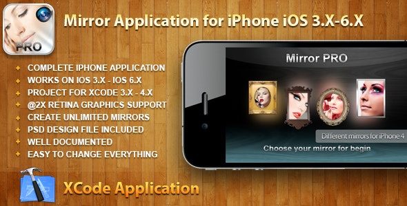 Mirror Application for iPhone iOS 3.X-6.X - CodeCanyon Item for Sale