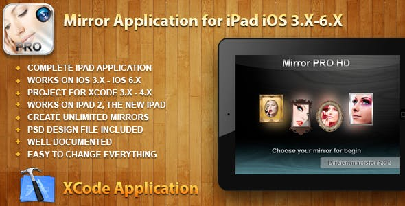 Mirror HD Application for iPad iOS 3.X-6.X
