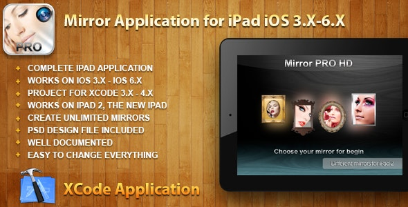 Mirror HD Application for iPad iOS 3.X-6.X - CodeCanyon Item for Sale