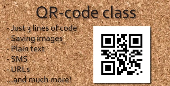 QR-code class - CodeCanyon Item for Sale
