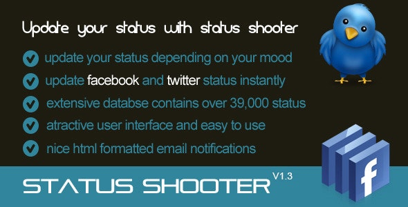 Status Shooter Application - CodeCanyon Item for Sale