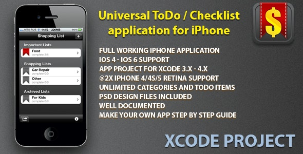 Universal Task Manager for iPhone and iPhone5 - CodeCanyon Item for Sale