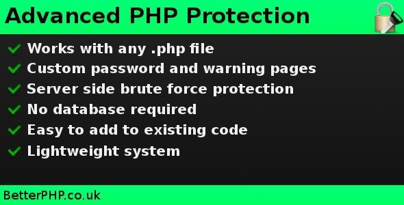 Advanced PHP Protection - CodeCanyon Item for Sale