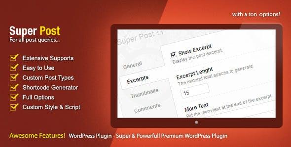 Super Post - WordPress Premium Plugin        Nulled