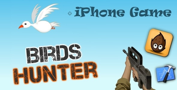 iPhone : Birds Hunter Game - Cocos2D - CodeCanyon Item for Sale
