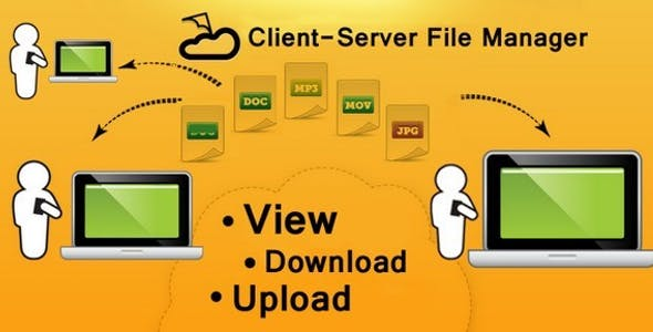 Client-Server File manager for Windows