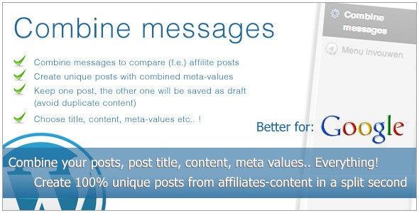 Combine messages - CodeCanyon Item for Sale