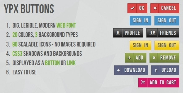 Classic shape button with CSS3 background - CodeCanyon Item for Sale
