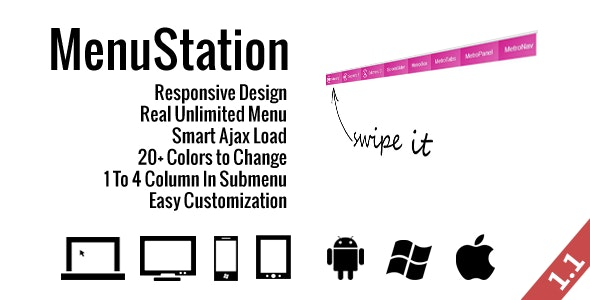 MenuStation - Real Unlimited Responsive Menu - CodeCanyon Item for Sale