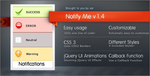 Notifyme - CodeCanyon Item for Sale