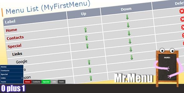 Mr.Menu - CodeCanyon Item for Sale
