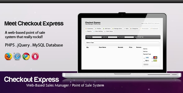 Checkout Express Point of Sale System - CodeCanyon Item for Sale