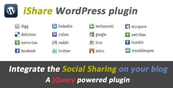 iShare jQuery Sharing Buttons for WordPress - CodeCanyon Item for Sale