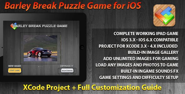 BarleyBreak Puzzle Game for iPad